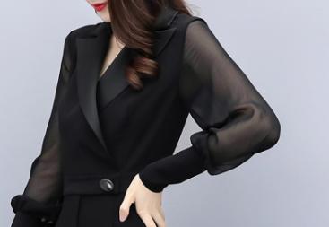 女装连体裤秋季长袖修身显瘦高腰阔腿裤优惠券