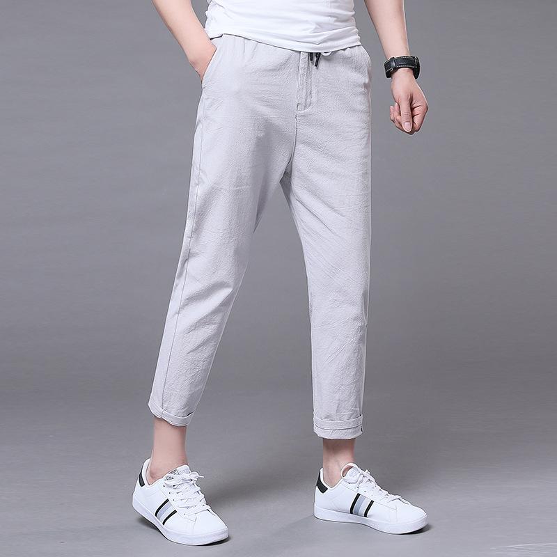 新品百搭休闲小西裤薄款9分裤TXBS3优惠券