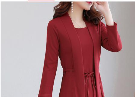 女人过了48岁,立秋后少穿套装,试试这样的秋裙,款款洋气美爆