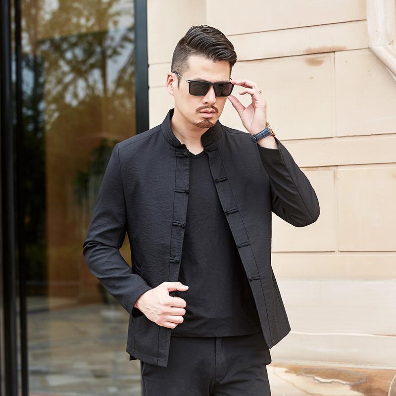 中国风唐装夹克男秋季新款中年休闲立领外套优惠券