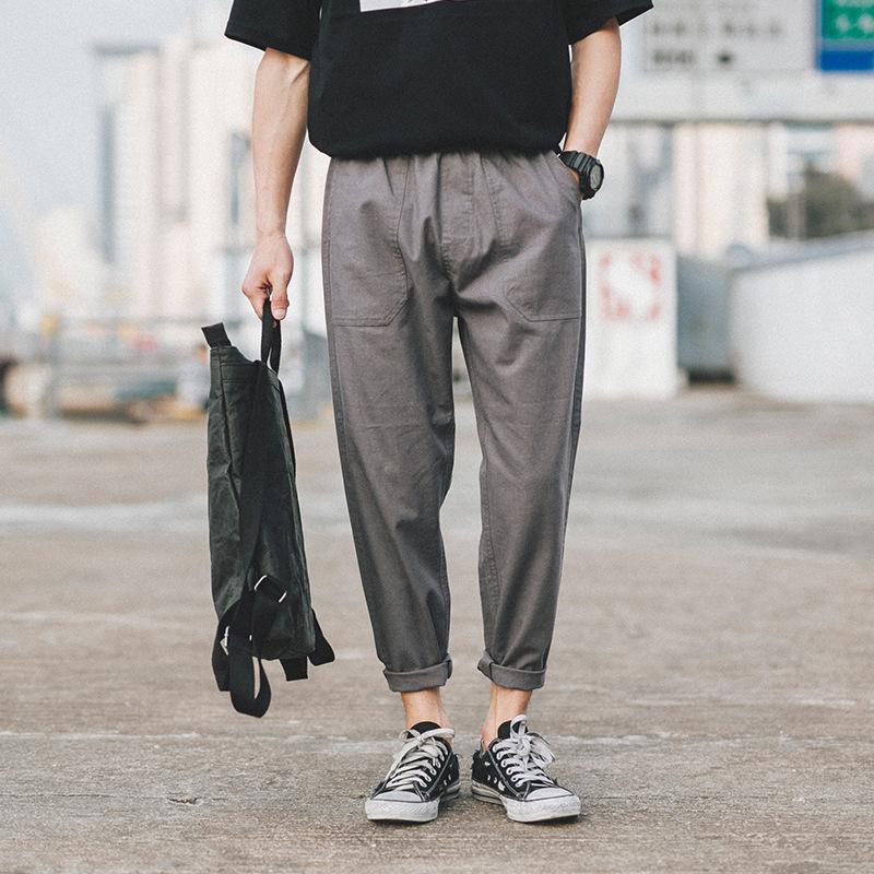新款棉麻休闲裤男小脚日系复古青年宽松亚优惠券