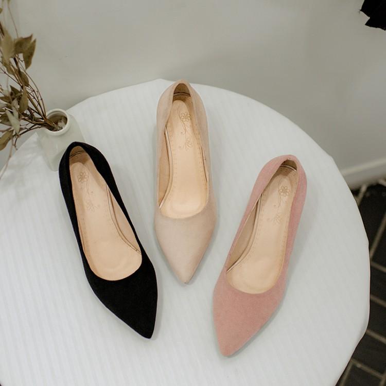 2018春季新款高跟鞋女尖头粗跟女鞋优惠券