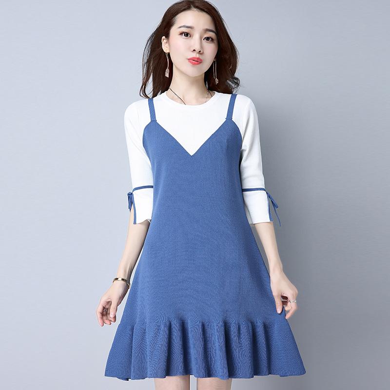 """8月刚上一种连衣裙,叫""""毛衣裙"""",比毛衣洋气,不挑身材不挑人"""