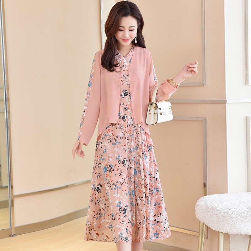 春季新款淑女连衣裙两件套优惠券