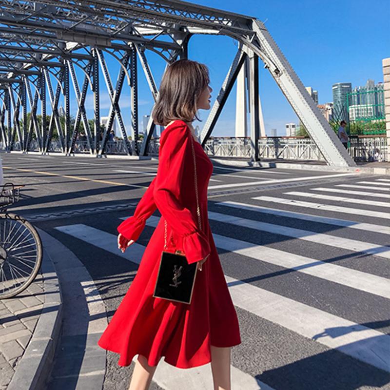 秋季新款chic赫本风优雅连衣裙优惠券