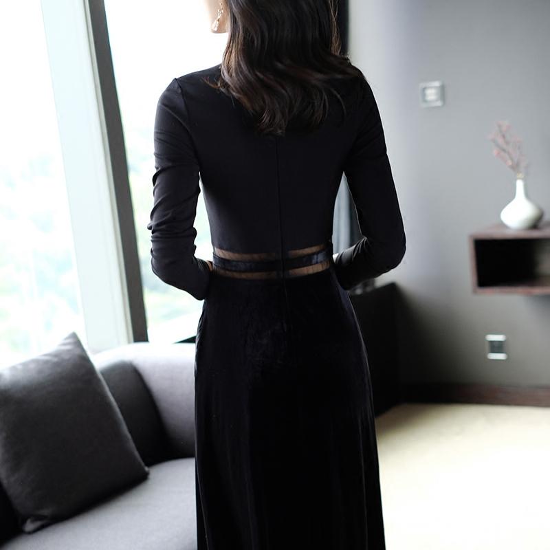 性感连衣裙秋连衣裙小黑裙连衣裙优惠券