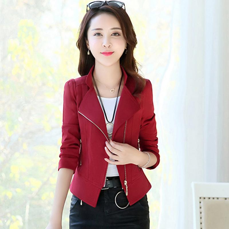 小个子短外套新款韩版修身时尚职业优惠券