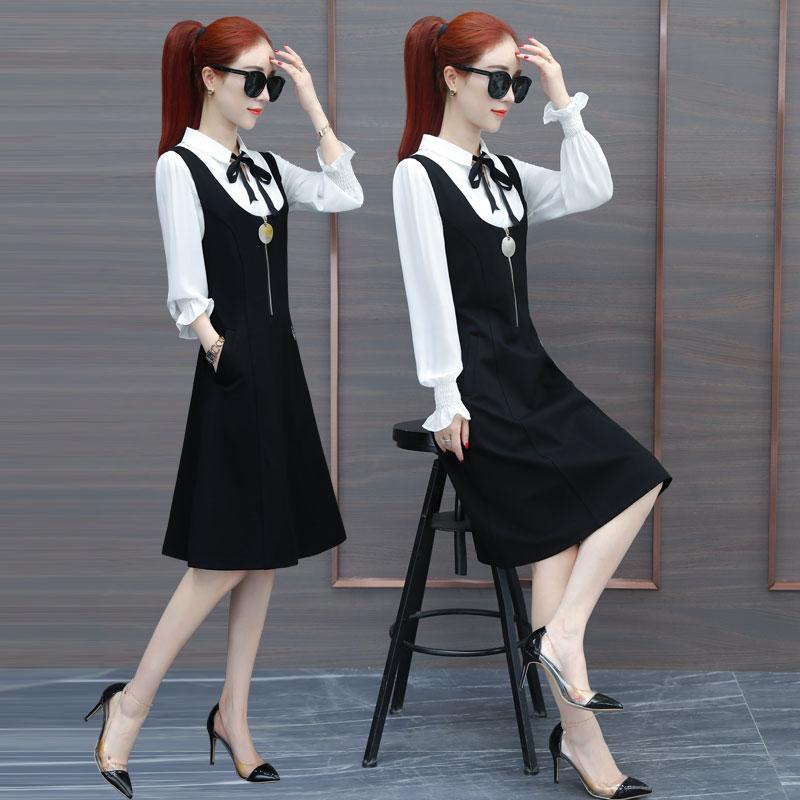 显瘦时尚背带套装裙子两件套1527#优惠券