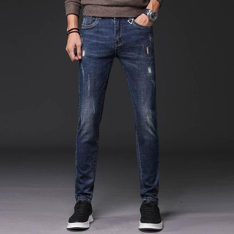 新款韩版潮流青年小脚牛仔裤优惠券