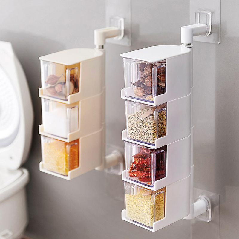 厨房壁挂式调料罐可旋转调味品罐优惠券