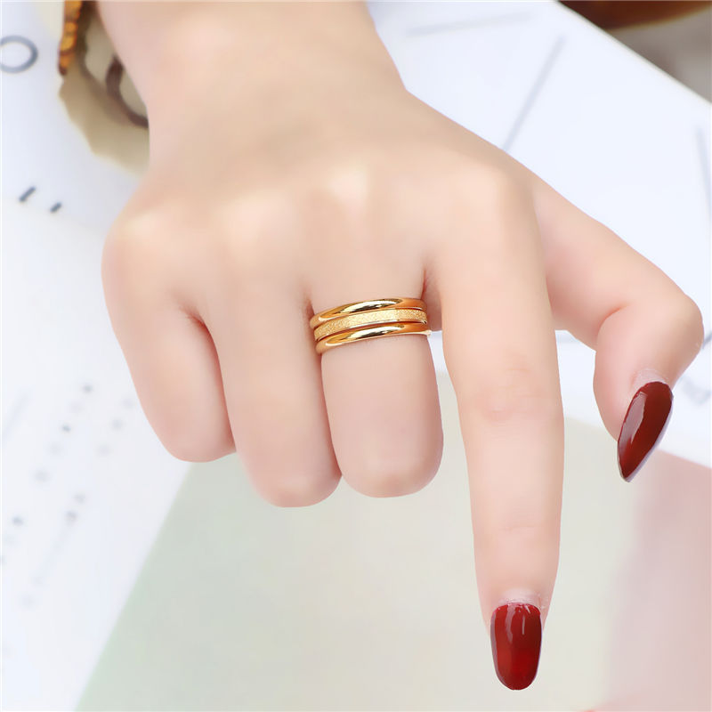 三生三世素圈戒指