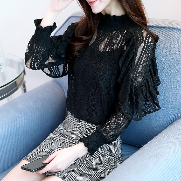 秋装新款蕾丝洋气长袖性感时尚打底衫优惠券