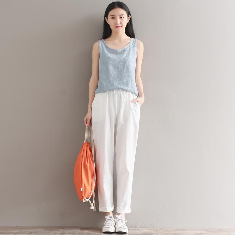 夏季新款棉麻休闲裤长裤优惠券
