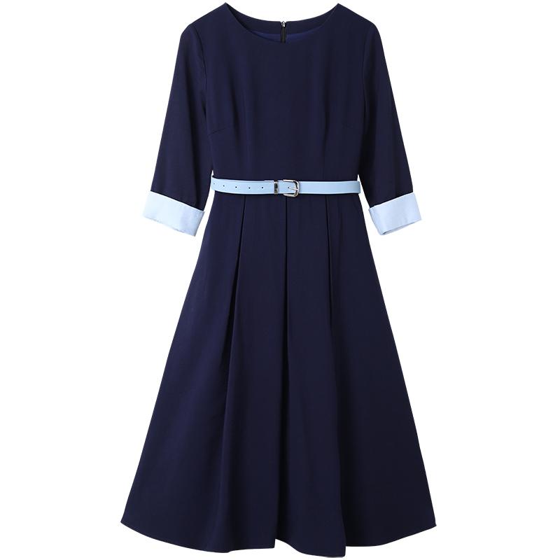 职业气质裙子女收腰遮肚子减龄时尚连衣裙优惠券
